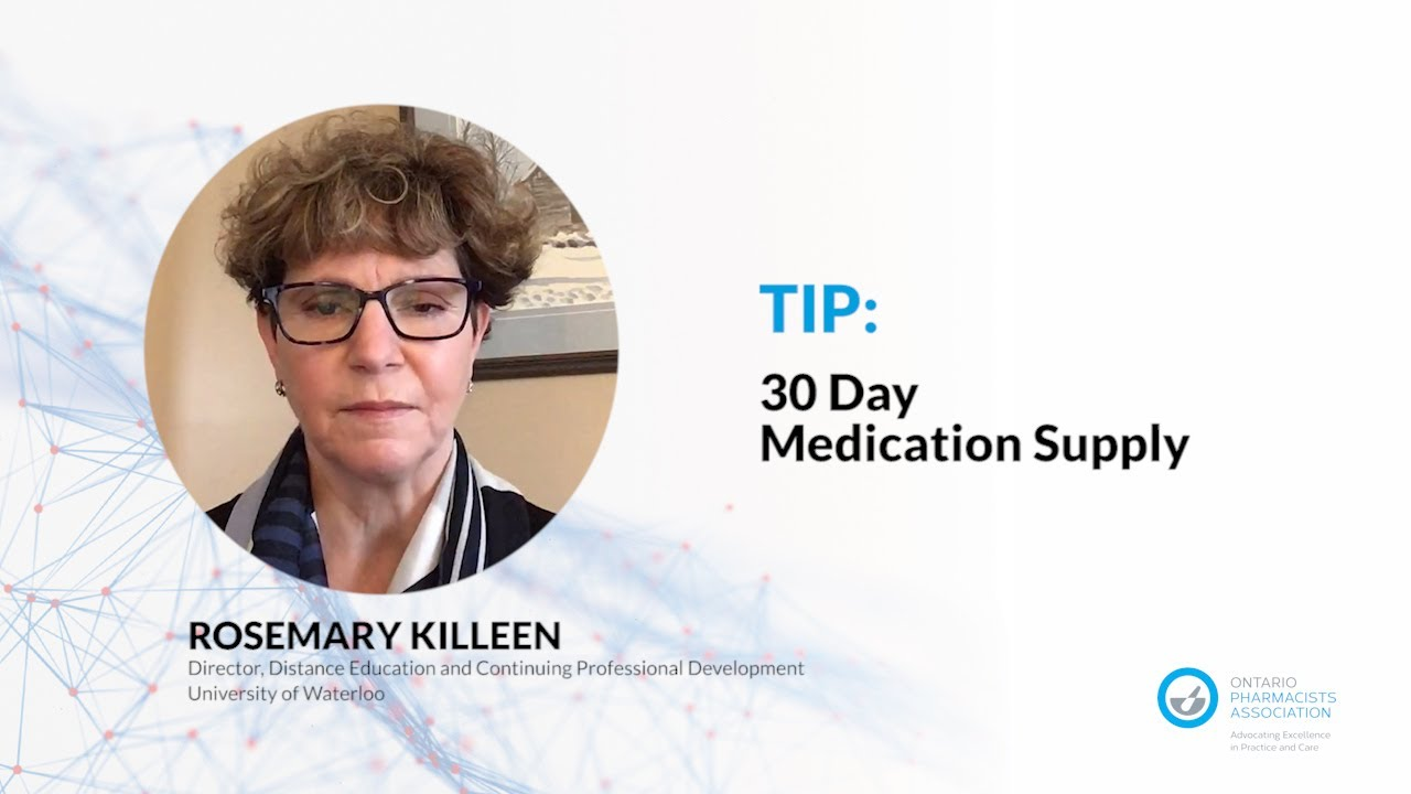 Pandemic Tips: 30-Day Medication Supply