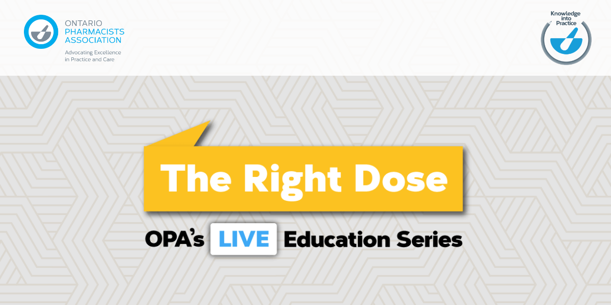 The Right Dose - Email Banner – opa-edlogo